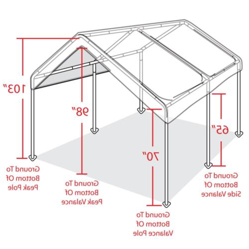 10' Heavy Duty Canopy Tent Steel