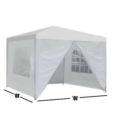 10'x10' Carport Shelter Sidewall Windows White