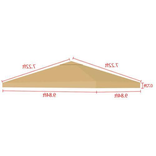10'x10' Gazebo Canopy Replacement Outdoor Sunshade