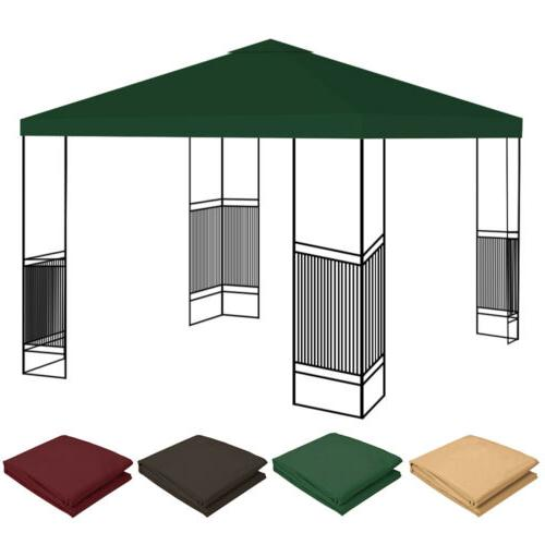10'x10' Gazebo Tent Canopy Replacement Sunshade Outdoor Cover