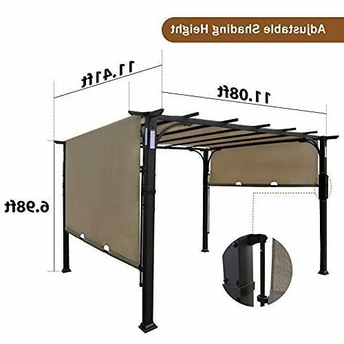 10'x10' Pergola Kits Canopy Ventilation and