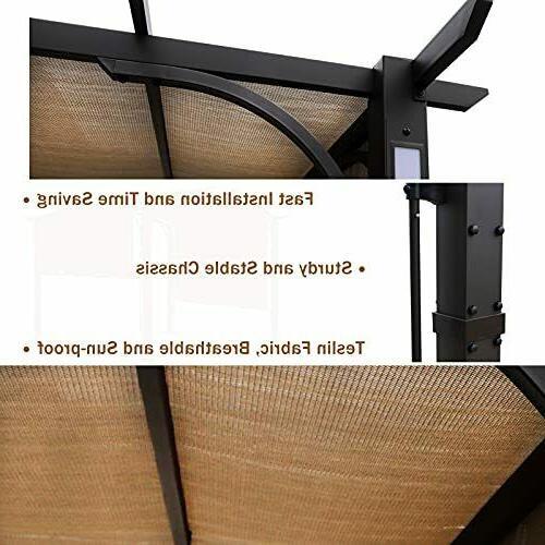 10'x10' Pergola Gazebo Kits Brown Ventilation and