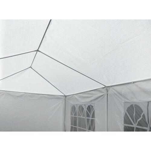 10'x30' White Outdoor Canopy 8 Walls