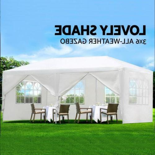 10'x20' Outdoor Canopy 6 Removable Window Walls