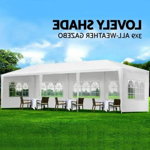 10'x30' White Outdoor Gazebo Canopy Party 8 Removable