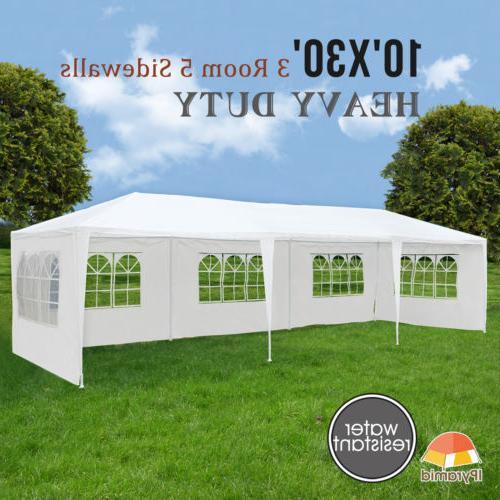 10'x30' Outdoor Canopy Wedding Duty Walls