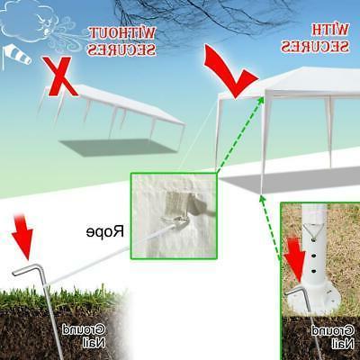 10'x30' Gazebo Canopy Wedding Party 8 Removable Walls 8