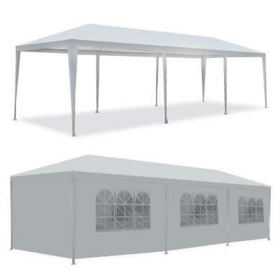 10 x30 white outdoor gazebo canopy wedding