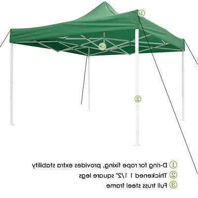 10x10' Commercial EZ Pop Up Canopy Bussiness Shelter