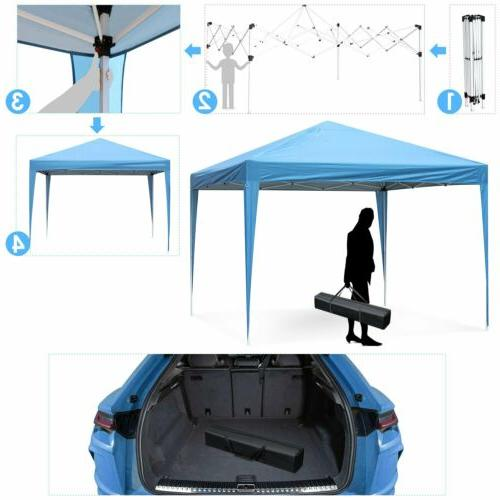 10' x 10' Canopy Party Tent Wedding Outdoor Pavilion Waterproof