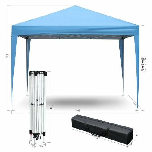 10' Canopy Party Outdoor Pavilion Cater Waterproof