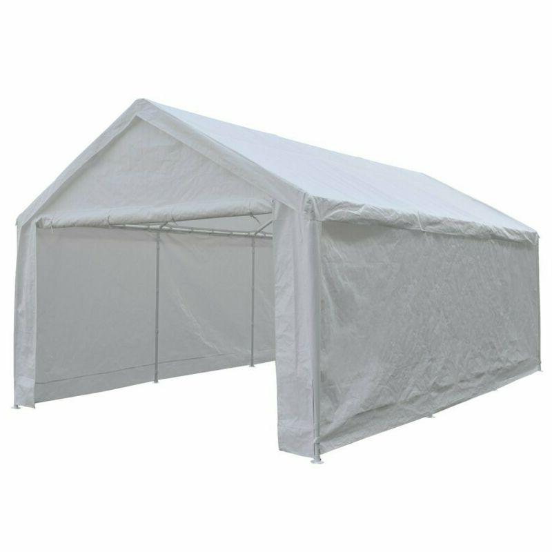 Abba Patio 12 20-Feet Duty Car Canopy Shelter Removable Si