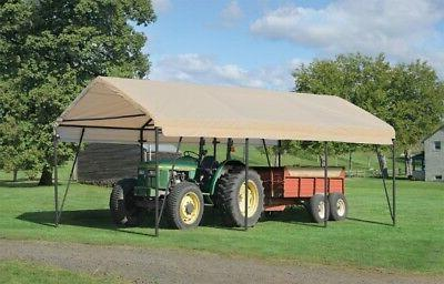 12x20x9 ShelterLogic Replacement Top Cover for 62635 Carport 90569