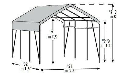 12x20x9 Replacement Canopy Top Carport