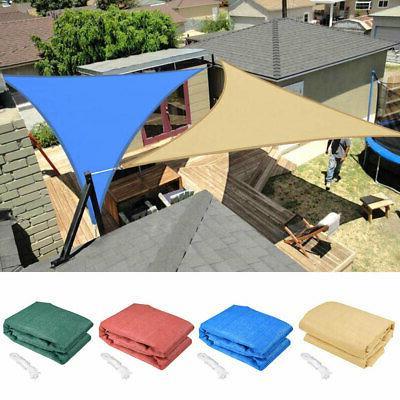 Color Option 16.5' Triangle Sun Shade Sail Yard Canopy Patio