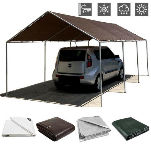 16 Tarpaulin Canopy Tarp Tent Shelter Waterproof