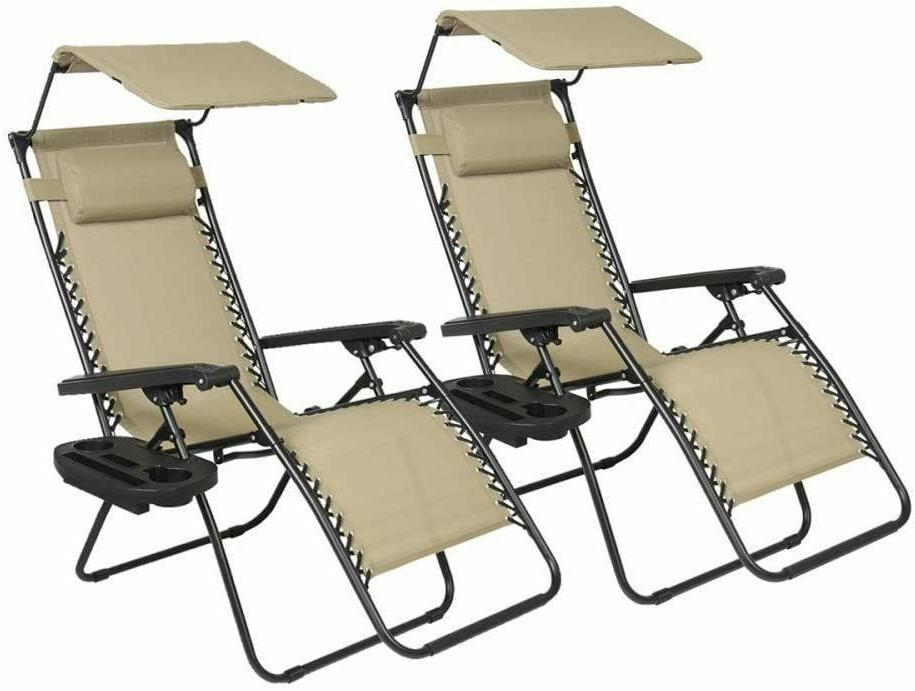 2 pcs zero gravity chair lounge patio