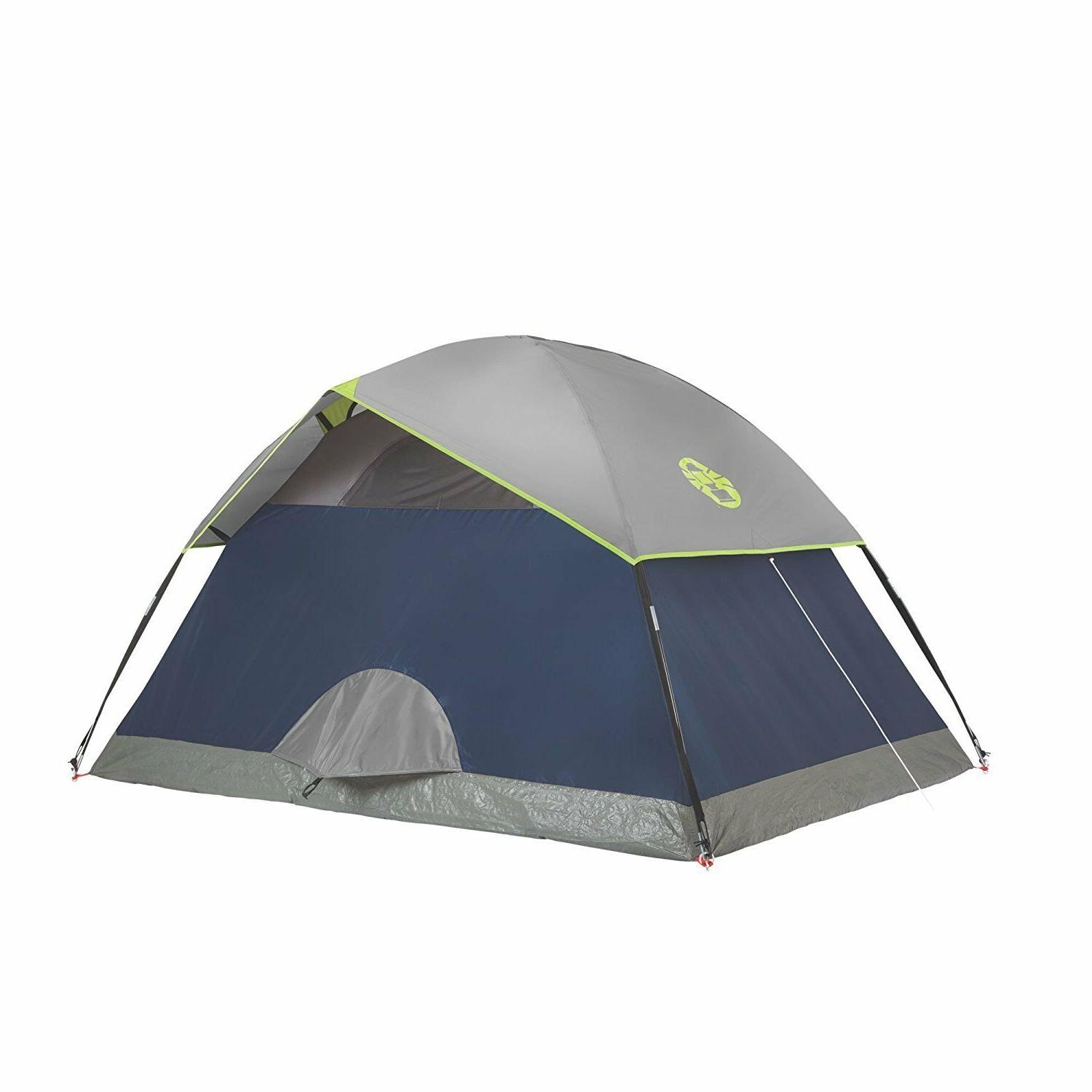 Coleman 4 Person Sundome Tent Made in USA Polyester Camping Fishing Hunting Tent