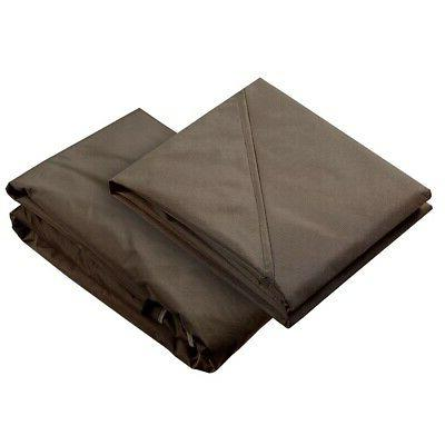 12.8'x10.7' Gazebo Top Replacement Waterproof Canopy Cover F