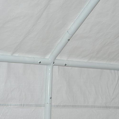 Outsunny 20' x Heavy Duty Outdoor Carport Canopy Tent - Grey