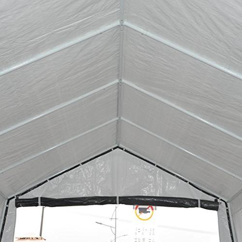 Outsunny 20' 12' Heavy Temporary Carport Canopy Grey