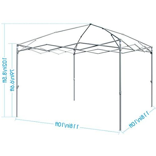 Quictent 2018 10x10 EZ Canopy Party Tent Gazebo with Mesh Windows and Sidewalls