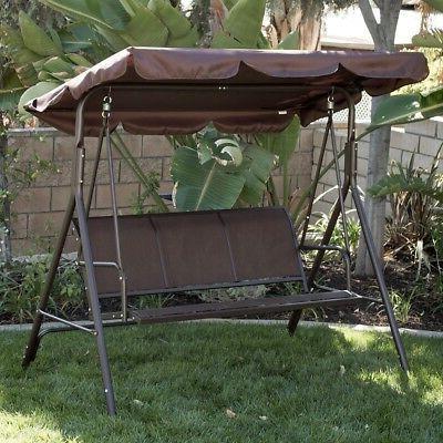 Belleze Porch Swing Glider Outdoor Chair Top Tilt