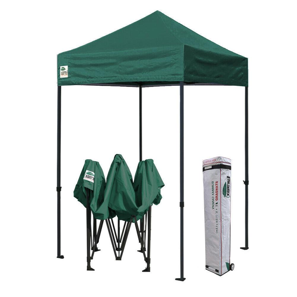 5x5 forest green ez pop up canopy
