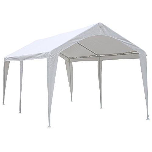 Abba Patio 10 x 20-Feet Outdoor Carport Canopy with 6 Steel
