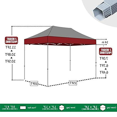 Eurmax 10x15 Ez Canopy Instant Shelter Canopy with Roller