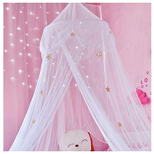 Hidecor Mosquito Bed Canopy Netting Stars Play Reading for Girls Boys