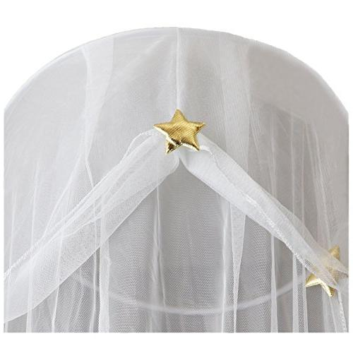Hidecor Canopy Netting Curtains Princess Stars Dome Play for Kids,White