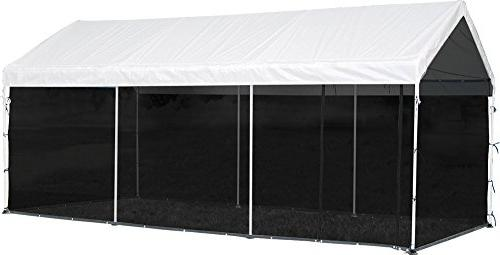 ShelterLogic MaxAP 2-in-1 Canopy with Screen Kit, White, 10