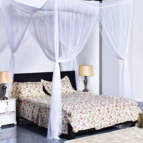 Super Buy Go Plus 4 Corner Post Bed Canopy Mosquito Net, Net
