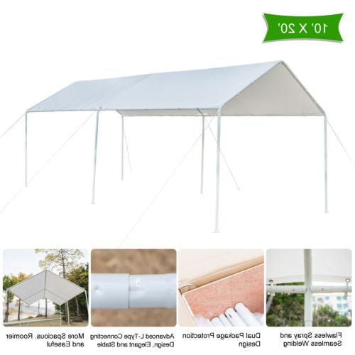 VINGLI Heavy Duty 10' x 20' Carport Domain Car Canopy, Upgra