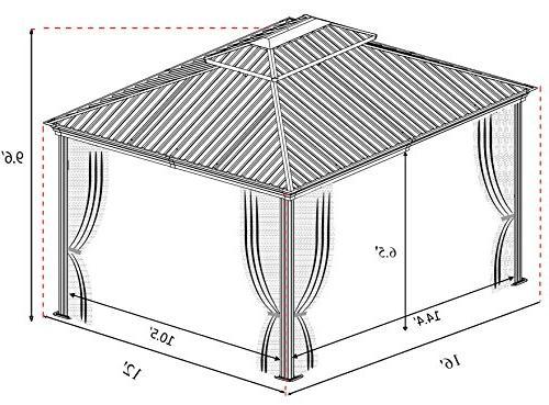 Kozyard 12'x16' Aluminum 2 Layers