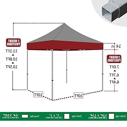Eurmax Ez Up Canopy Tent Instant with Heavy Duty