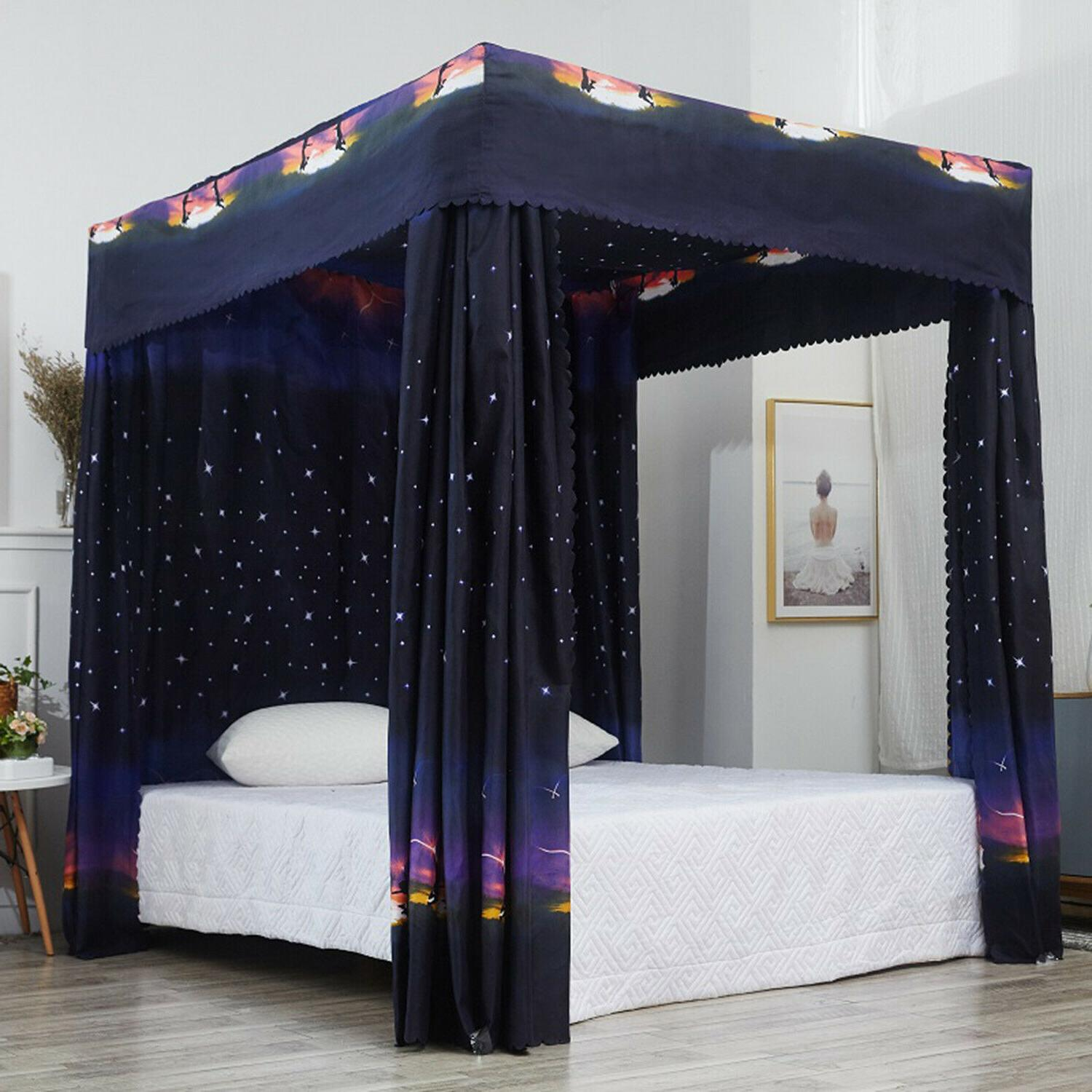 canopy bed curtains galaxy bed four post
