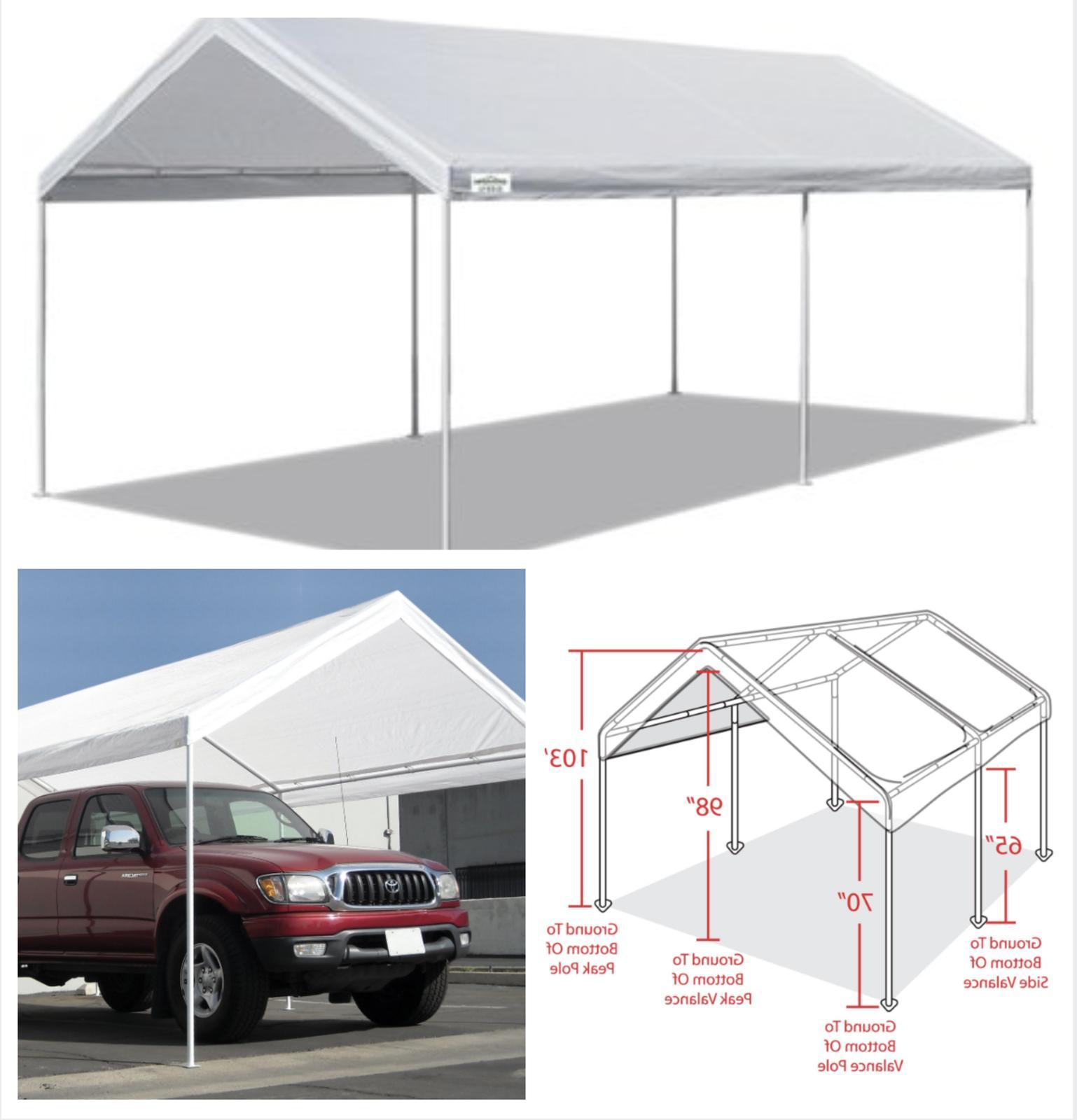 canopy carport 10 x 20 heavy duty