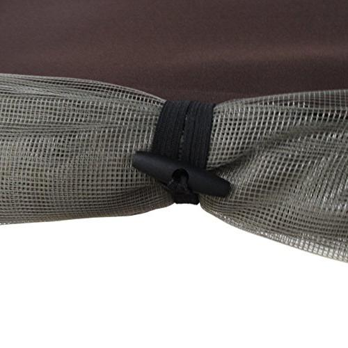 Abba Patio Cover with Mosquito Net 7.6x4.5x6.7 Ft, Chocolate