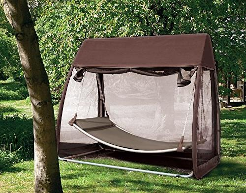 Abba Cover Hanging Swing Hammock with Mosquito Net Ft,