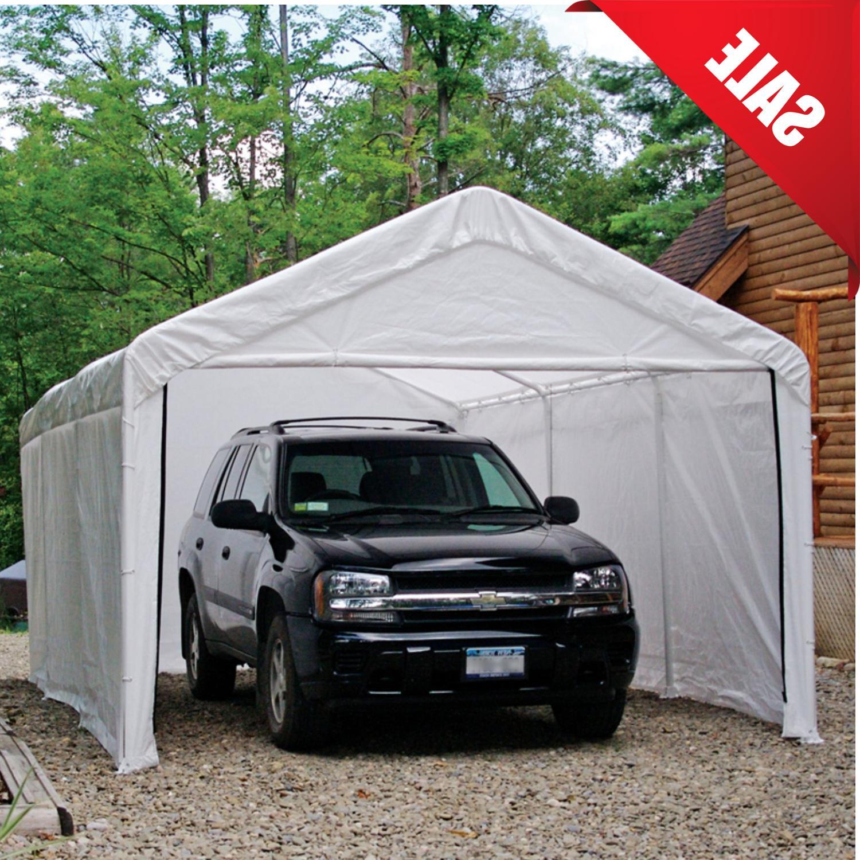 Canopy Enclosure Kit 12x20 Car Port Cover Portable Shelter C