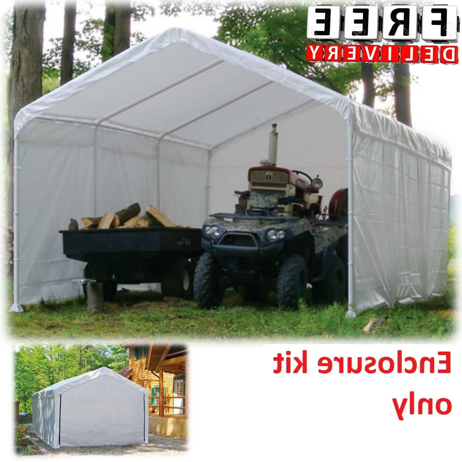 Canopy Enclosure Kit 12x30' Shelter Portable UV Protection G