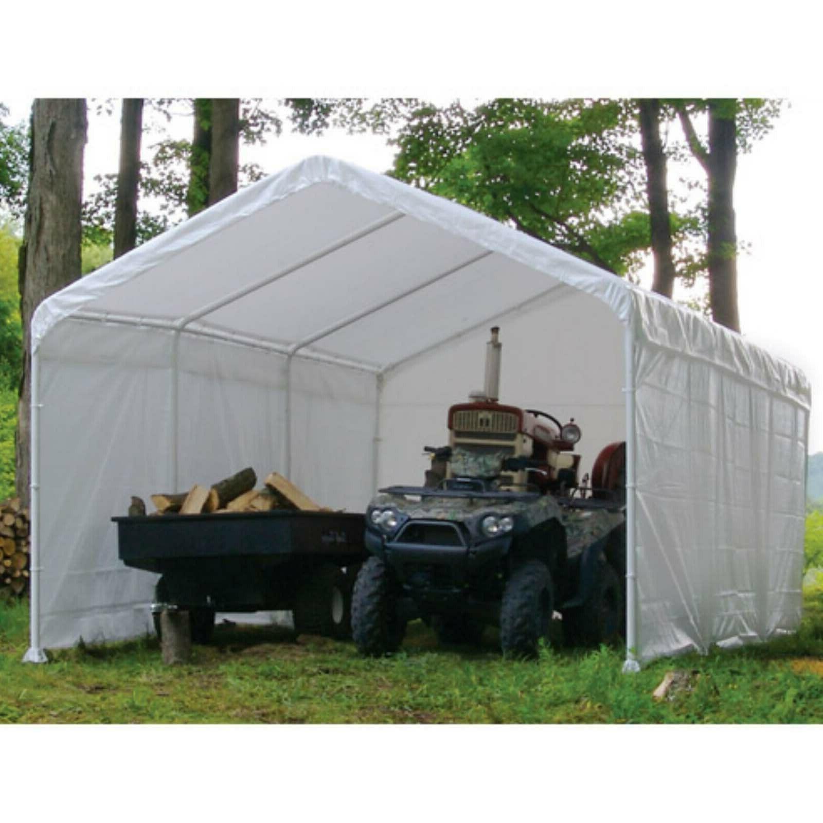 Canopy Enclosure Shelter Portable UV Protection Garage Car Port
