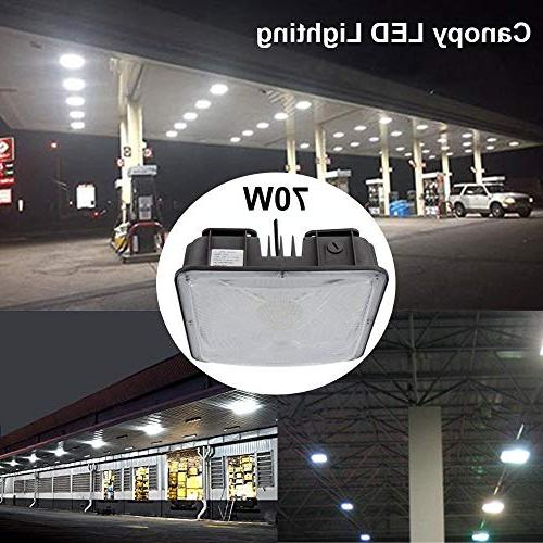 LED Lights Gas Station, Waterproof LED Canopy Fixture,50W Daylight 6000LM , Garage Ceiling Lamp(2