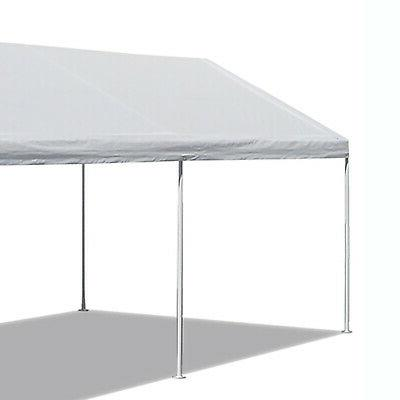 10 x FT Carport Heavy Duty Canopy Tent Steel Caravan Shelter 6 White