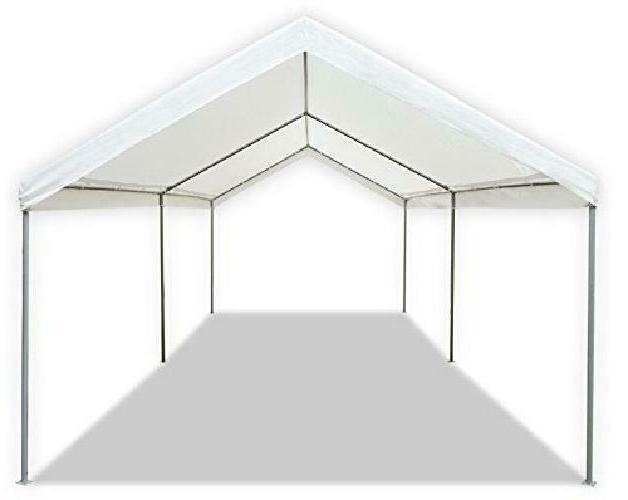 Carport Canopy Tent Caravan Portable Garage Shelter Port Duty 10'x20'