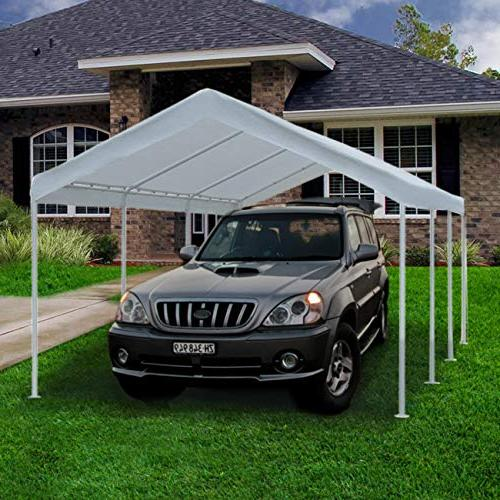 Abba Patio 20-Feet Carport Steel