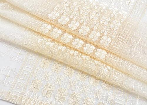 Aside Bside and Maze Embroidered Rod Top Fantasy Design Sheer Curtains Voile