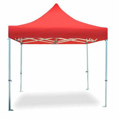 10 x 10 Heavy Duty Pop Up Frame Tent Red Canopy Instant Shel